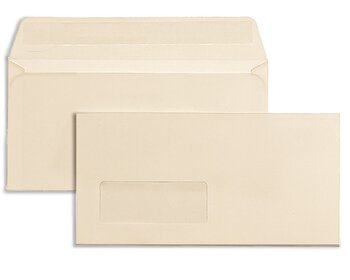 Farbige Couverts - Creme ~110 x 220 mm (DIN Lang) | 120...