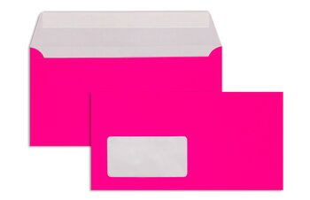 Farbige Couverts - Rosa (Neonpink)~110 x 220 mm (DIN...